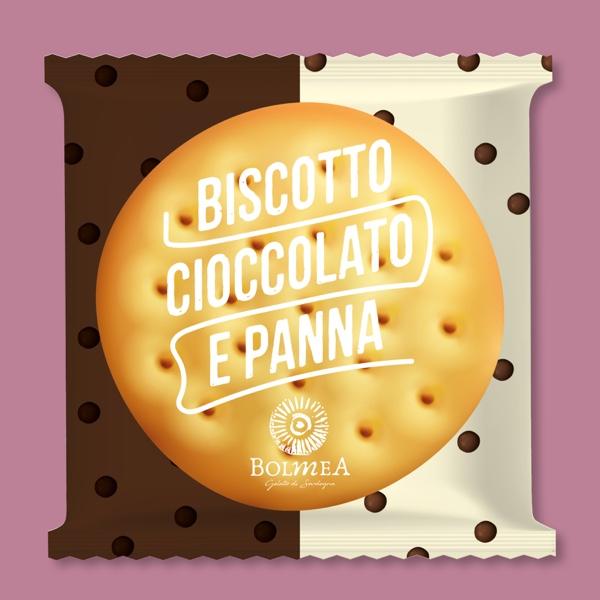 Biscotto cioccolato e panna